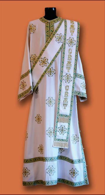Ђаконске одежде - беле везене1
