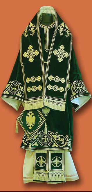 Владичине одежде - зелене везене