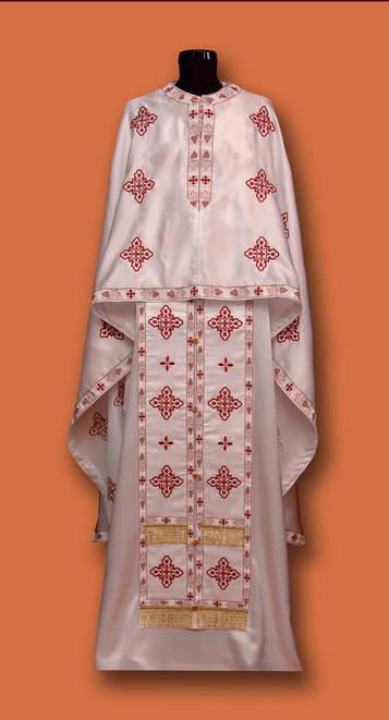 Свештеничке одежде - беле везене