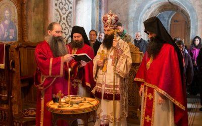 Архијерејска литургија у суботу пету поста