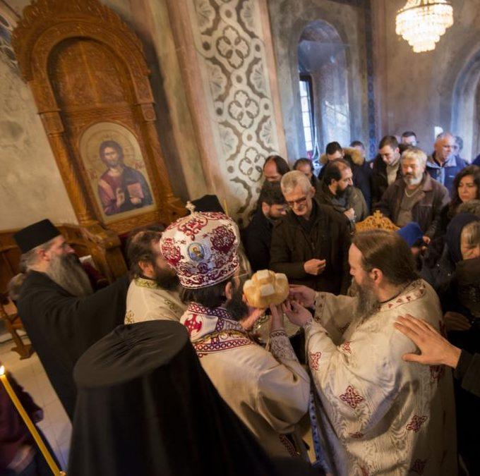 Архијерејска литургија у манастиру Буково
